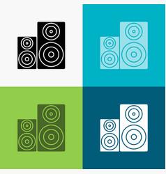 Audio hifi monitor speaker studio icon over vector