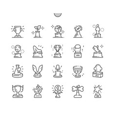 award collection well-crafted pixel perfect vector image