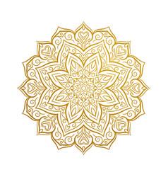 beautiful mandala decorative element vector image