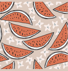 beautiful summer seamless pattern hand drawn vector image
