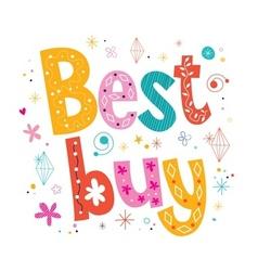 Best buy decorative lettering type design vector image