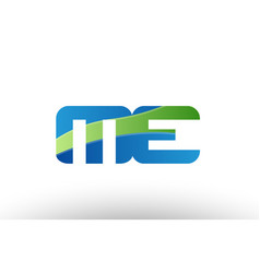 blue green me m e alphabet letter logo vector image
