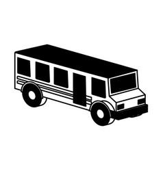 bus school isometric icon vector image