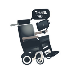 Cartoon stephen hawking wheelchair vector
