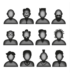 Character Male Avatar Profile Icon vector image