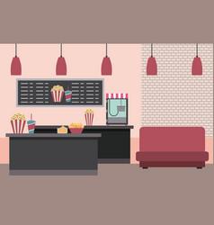 Cinema interior image vector