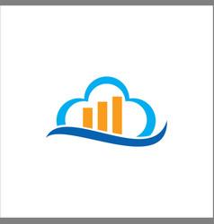 cloud business data logo vector image vector image