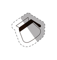 Coffee pot handle line vector