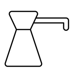 Coffee turk thin line icon coffee pot vector