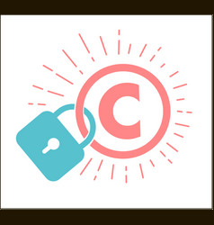concept of protection of copyright vector image