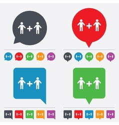Couple sign icon Male plus male Gays vector image