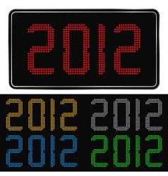 digital 2012 number vector image