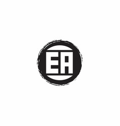 Ea logo initial letter monogram with abstract vector