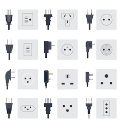 Electrical outlets plugs vector