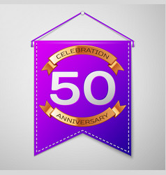 Fifty years anniversary celebration design vector