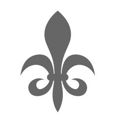 Fleur de lis - sign of lily decorative heraldry vector
