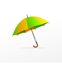 green and yellow umbrella isolated vector image