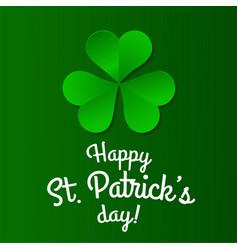 green clover trefoil symbol happy patricks day vector image