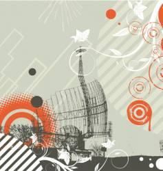 Grunge background with radar vector