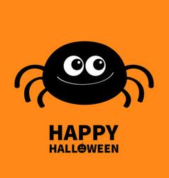 Happy halloween spider icon cute cartoon kawaii vector