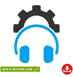Headphones Configuration Gear Eps Icon vector