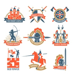 Heraldic Knight Emblems Logos vector