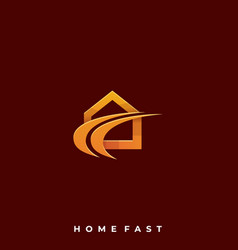 home fast template vector image