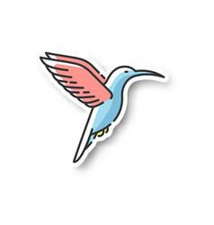 hummingbird patch vector image