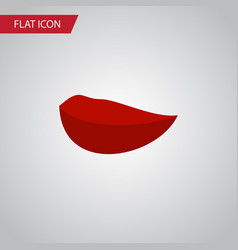Isolated mouth flat icon kiss element can vector