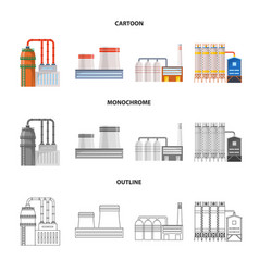 Isolated object production and structure logo vector