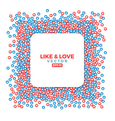 like and love social sites symbols thumb up and vector image
