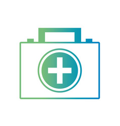line briefcase with medical first aid kit vector image