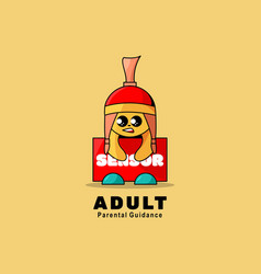 Logo adult simple mascot style vector
