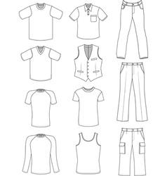 Man clothes summer collection vector