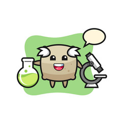 Mascot character sack as a scientist vector