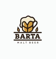 modern professional logo emblem beer barta vector image