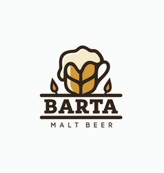 Modern professional logo emblem beer barta vector