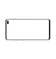 Modern smartphone horizontal mockup - front view vector