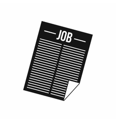 Newspaper with headline job icon vector