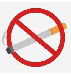No Smoking prohibiting sign vector image vector image