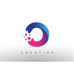 O letter design with creative dots bubble circles vector