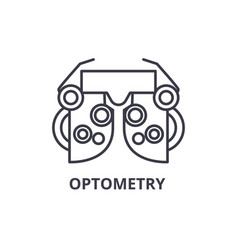 Optometry thin line icon sign symbol vector
