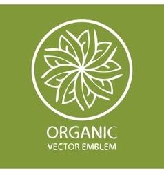 Organic logo vector