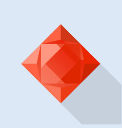 perfect garnet icon flat style vector image