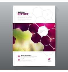 Pink annual report Leaflet Brochure Flyer template vector