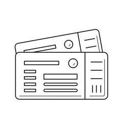 plane tickets line icon vector image