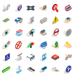 Rood icons set isometric style vector