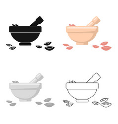 salt bowl icon of for web and vector image