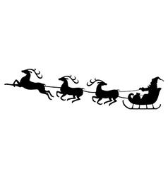 santa deer3 vector image