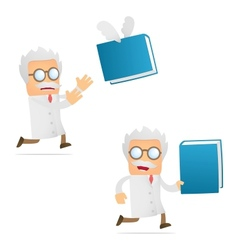 scientist with book vector image